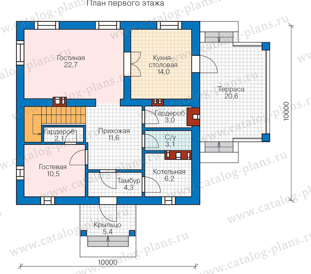 1этаж. План проекта №57-05C