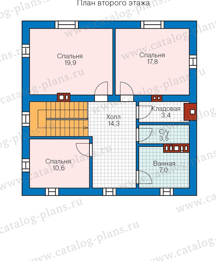 2этаж. План проекта №57-05C