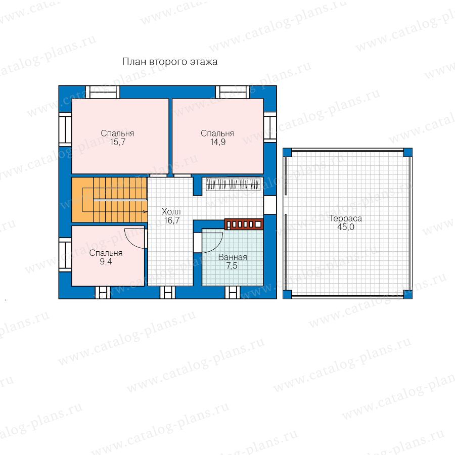 2этаж. План проекта №57-05F