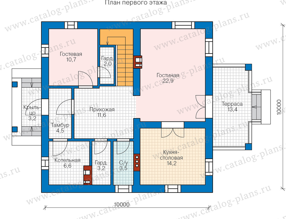1этаж. План проекта №57-05GL
