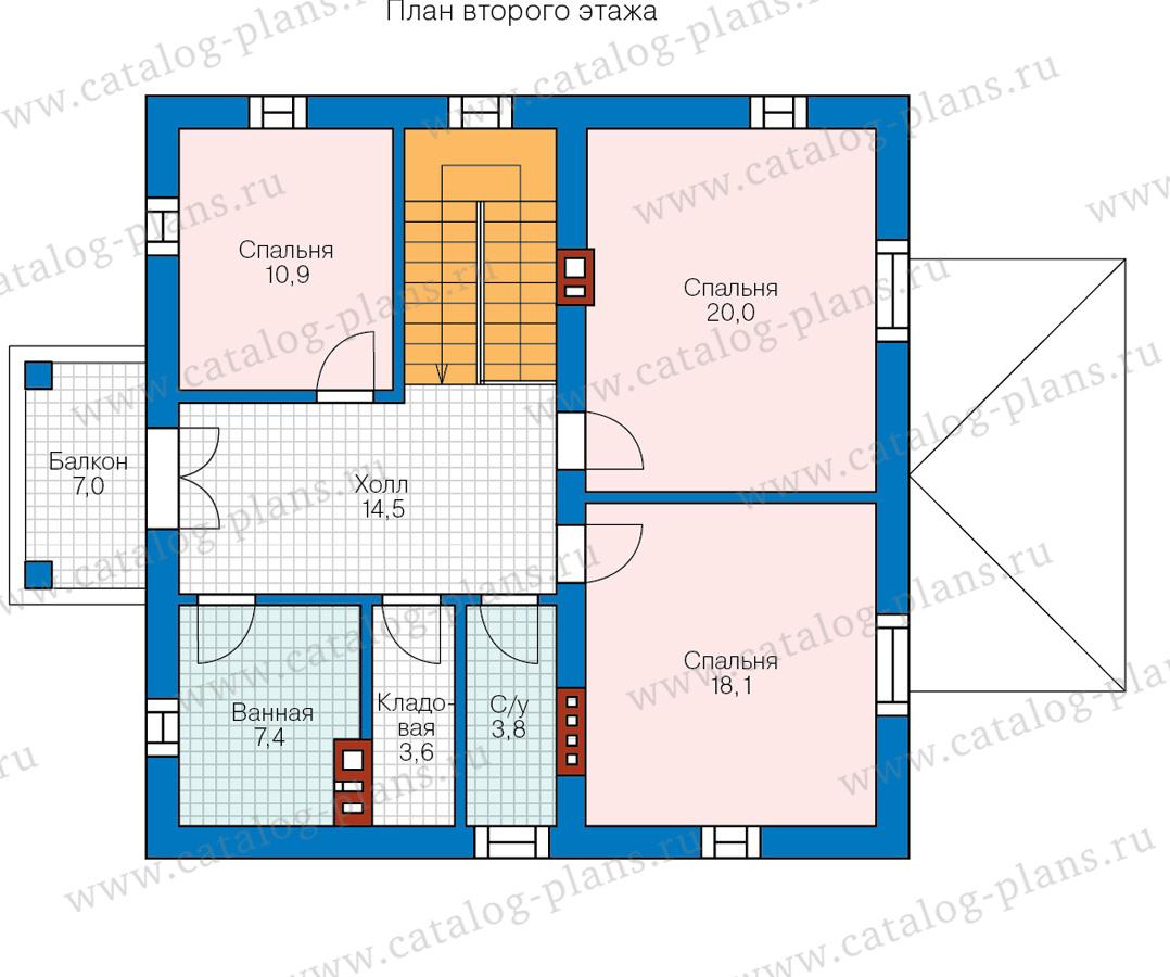 2этаж. План проекта №57-05GL