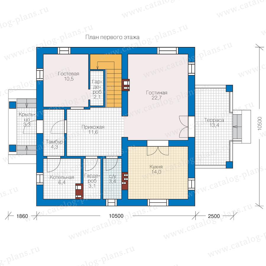 1этаж. План проекта №57-05KL