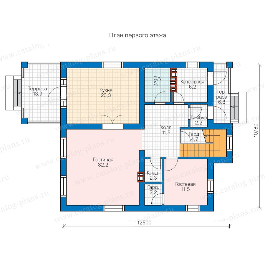 1этаж. План проекта №57-20AK