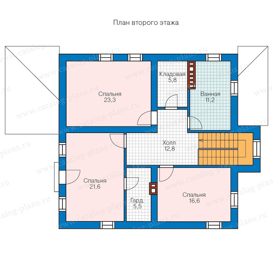 2этаж. План проекта №57-20AK