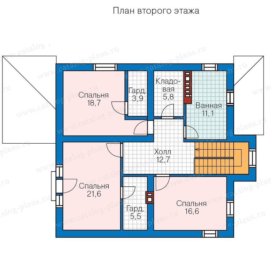 2этаж. План проекта №57-20B