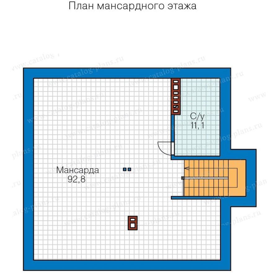 3этаж. План проекта №57-20BK