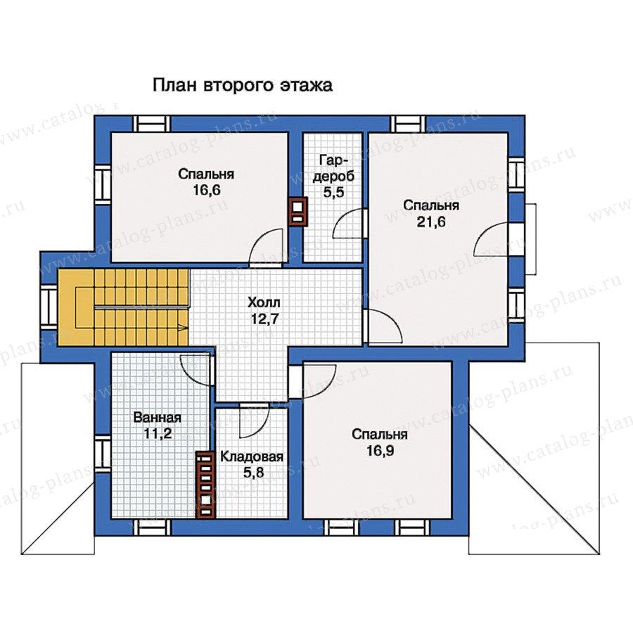 2этаж. План проекта №57-20K