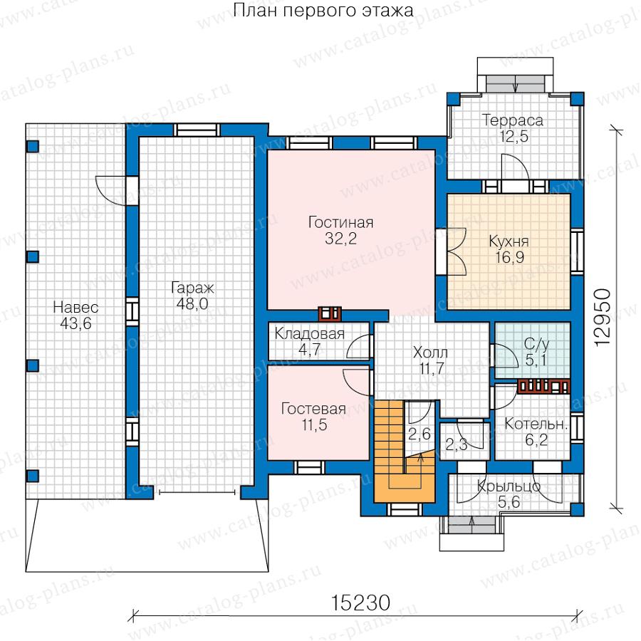 1этаж. План проекта №57-20P