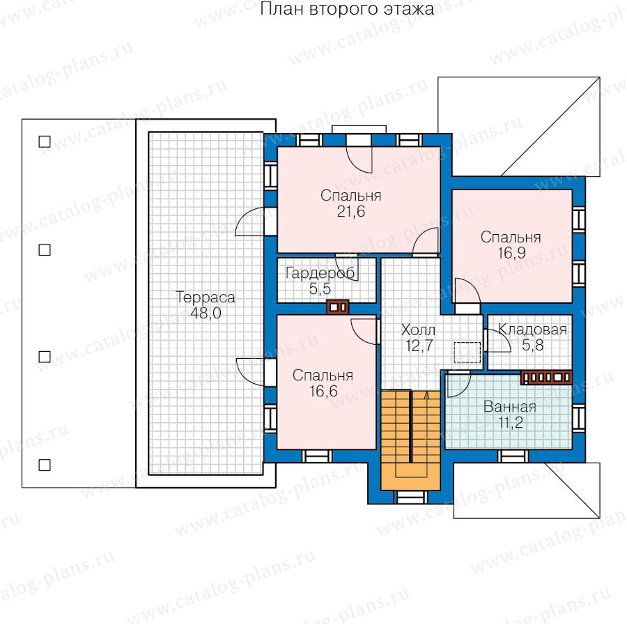 2этаж. План проекта №57-20P