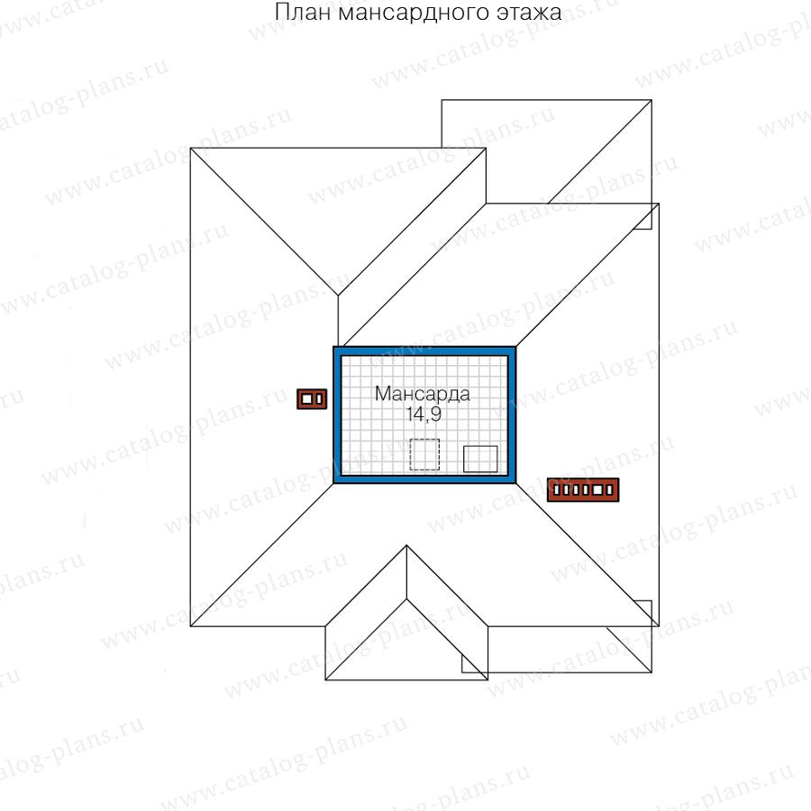 3этаж. План проекта №57-20P