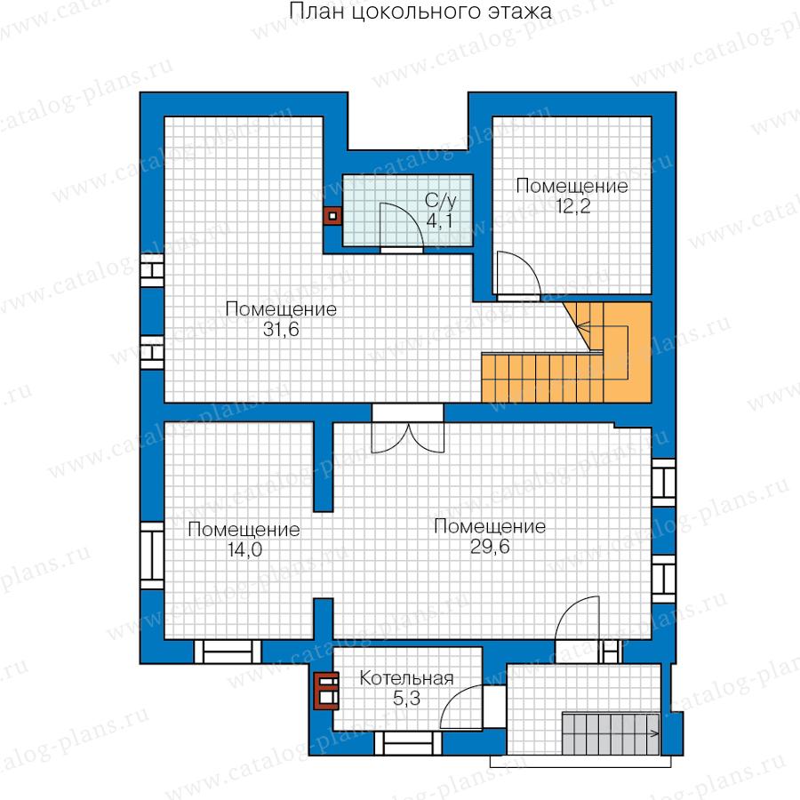 1этаж. План проекта №57-23A