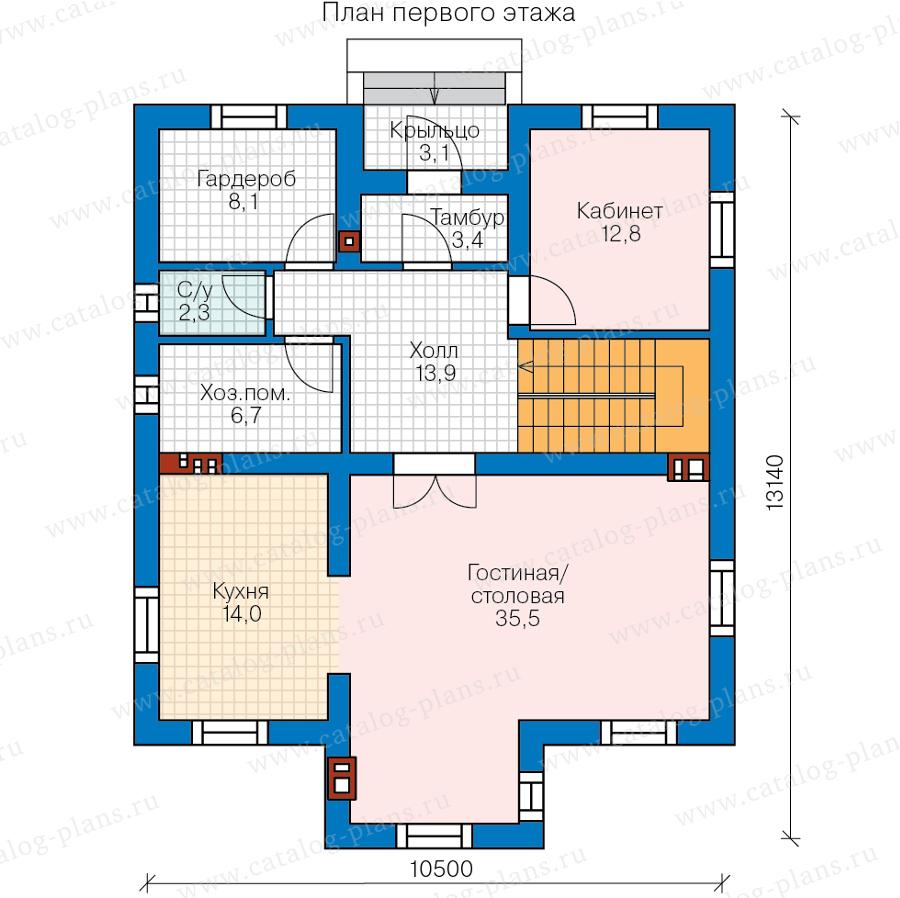 2этаж. План проекта №57-23A