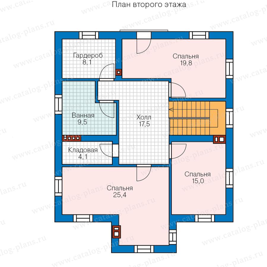 3этаж. План проекта №57-23A