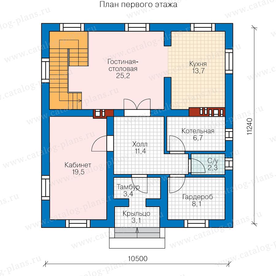 1этаж. План проекта №57-23B