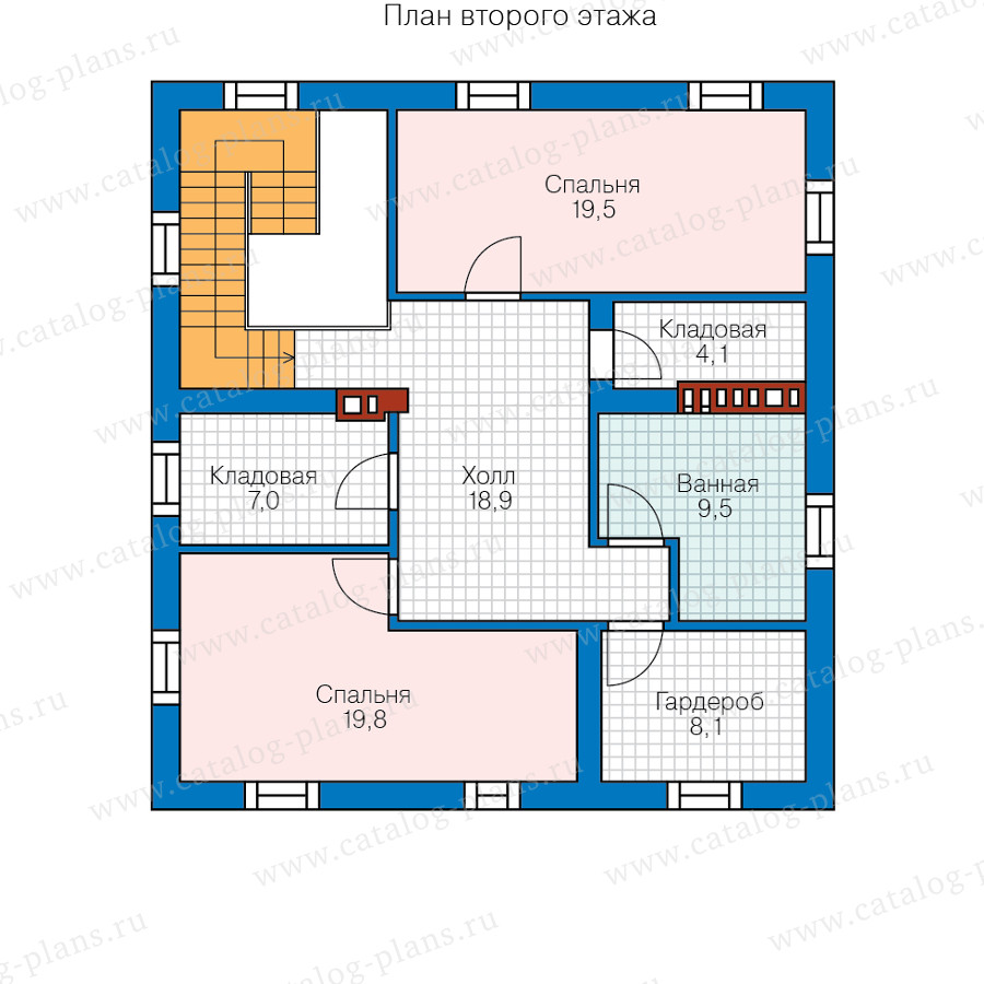 2этаж. План проекта №57-23B