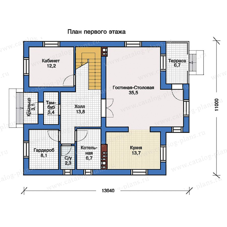 1этаж. План проекта №57-23K