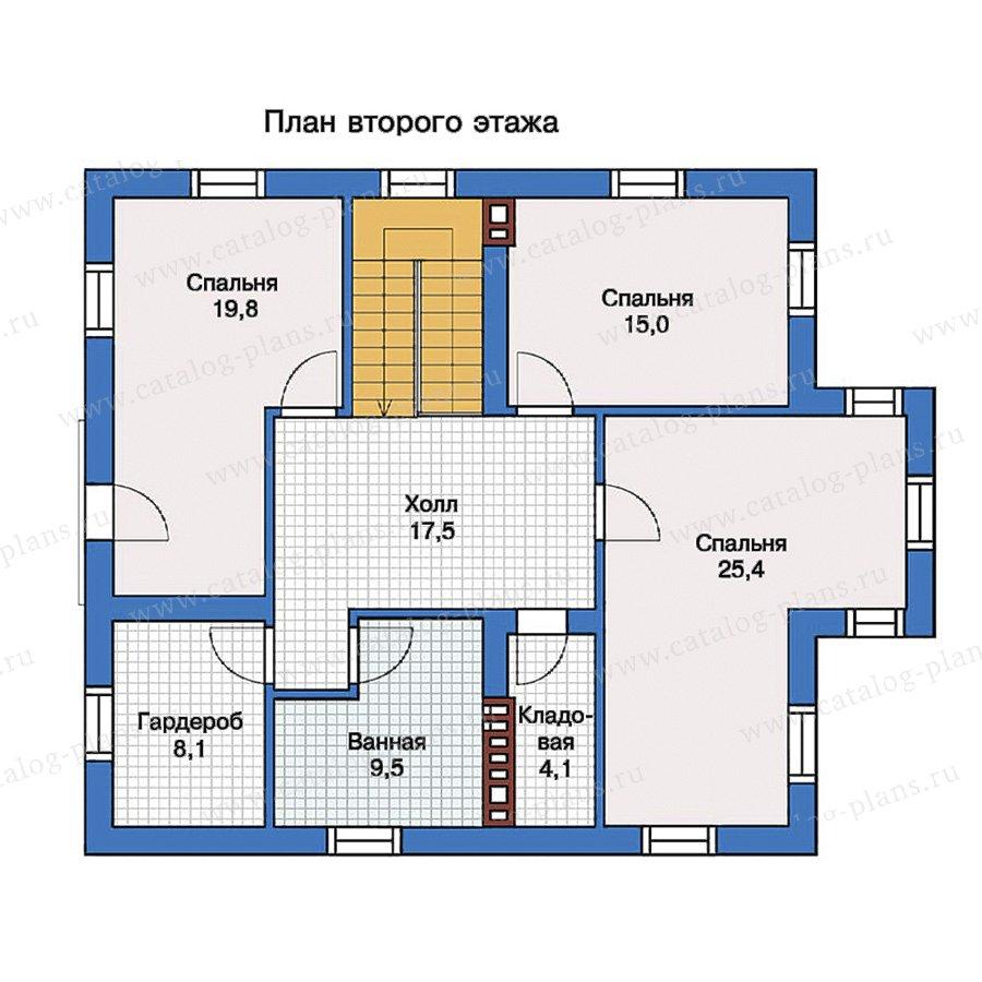 2этаж. План проекта №57-23K