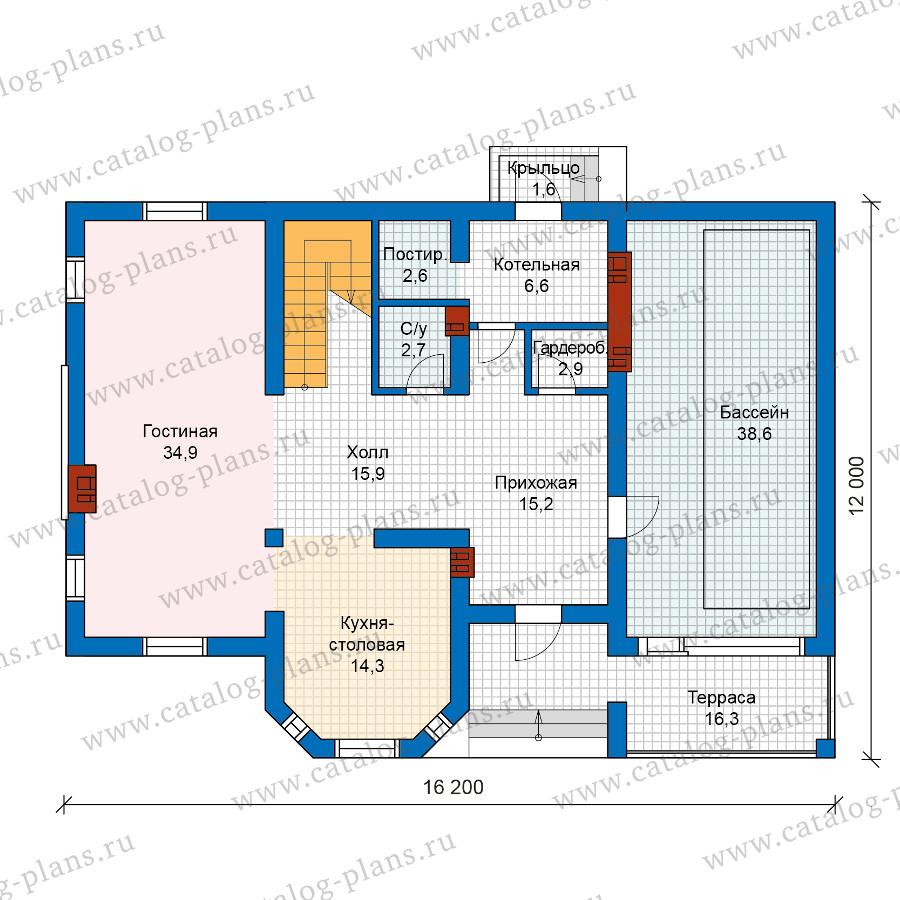 1этаж. План проекта №57-25A