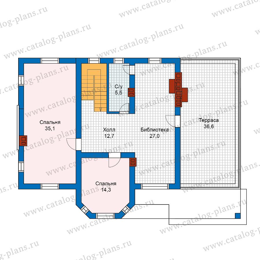 2этаж. План проекта №57-25A