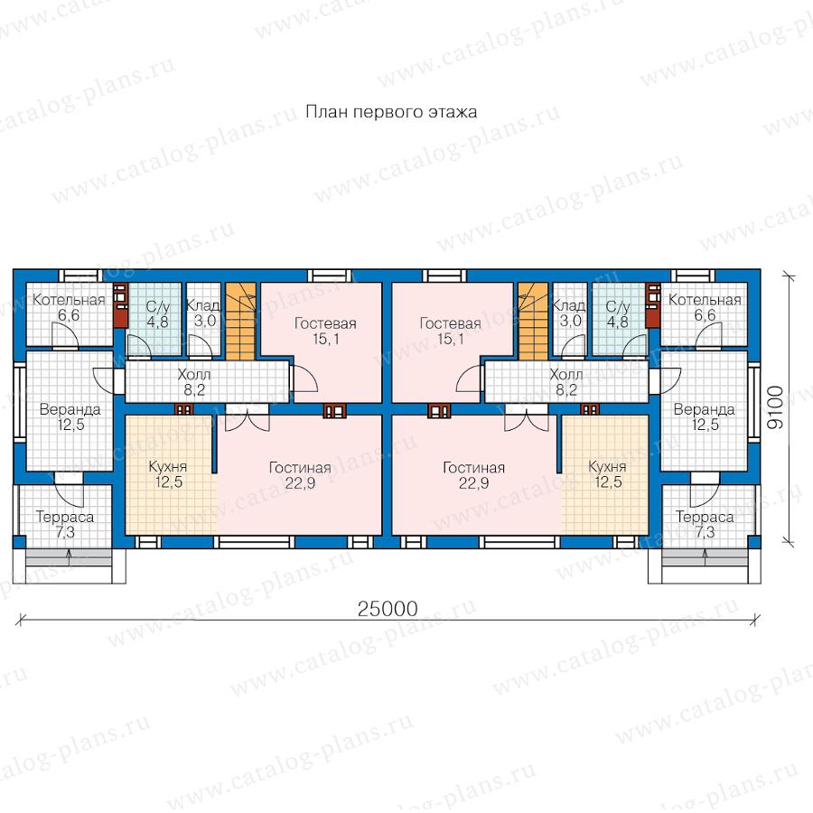 1этаж. План проекта №57-26W