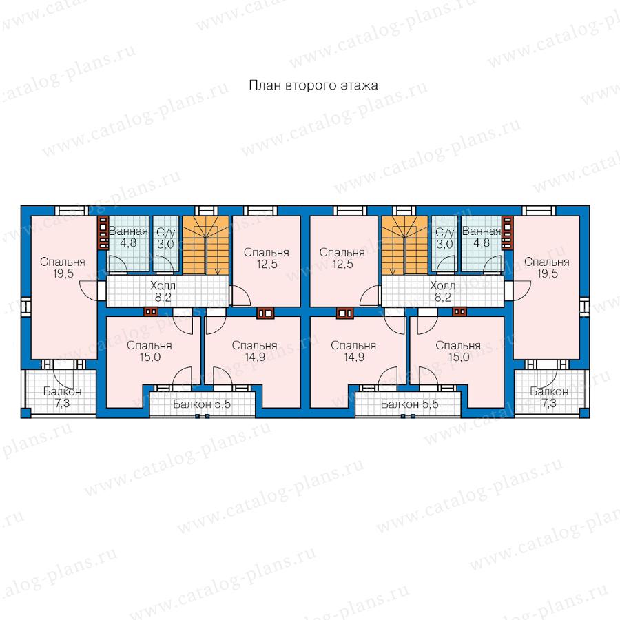2этаж. План проекта №57-26W