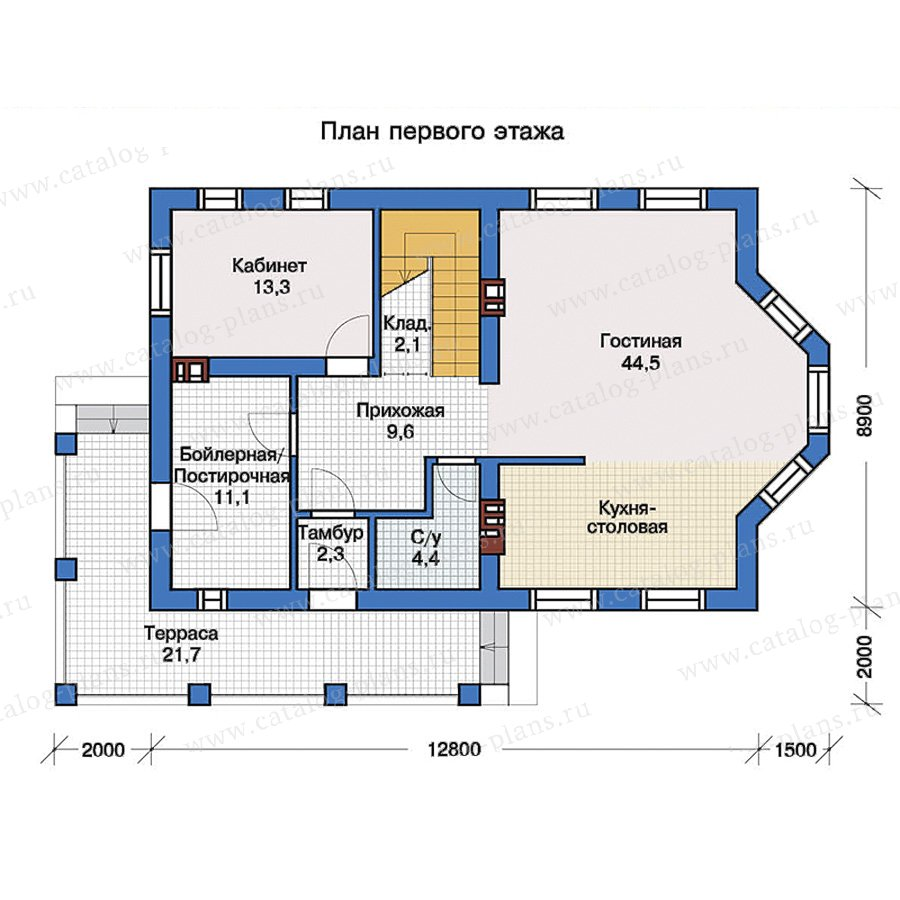 1этаж. План проекта №57-29