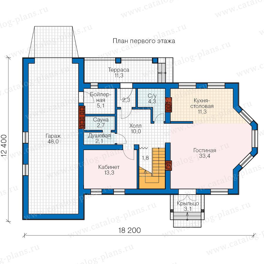 1этаж. План проекта №57-29A