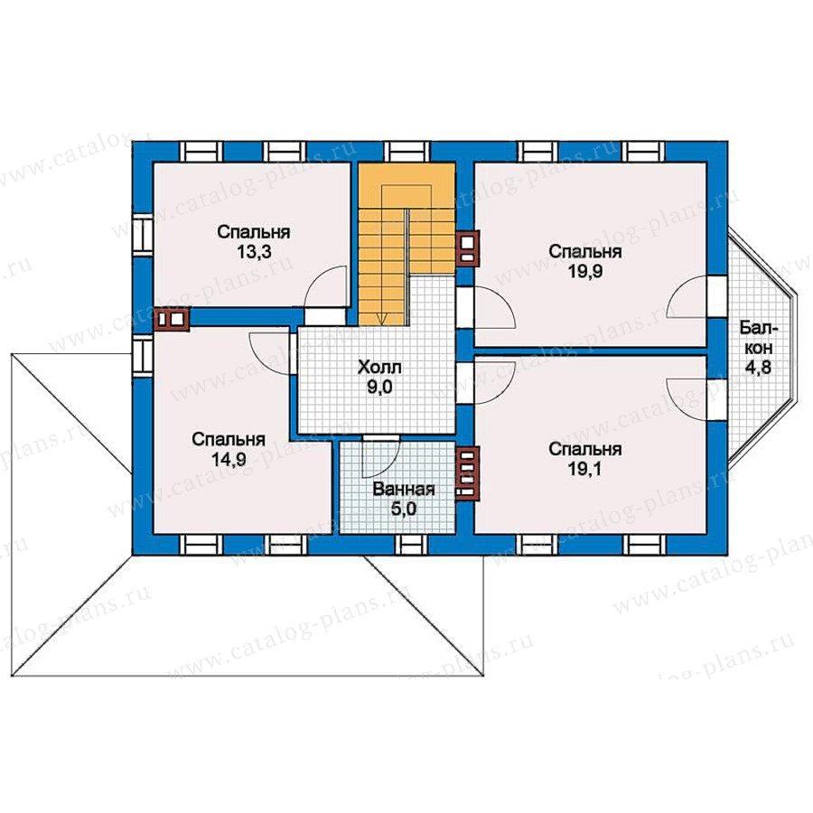 2этаж. План проекта №57-29K