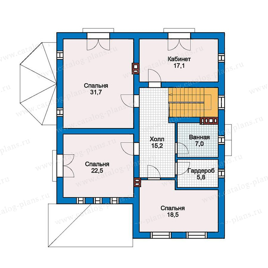 2этаж. План проекта №57-33