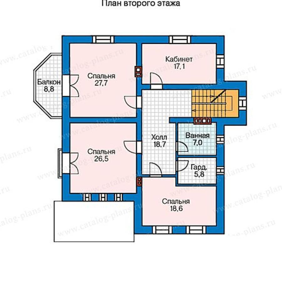 2этаж. План проекта №57-33AK