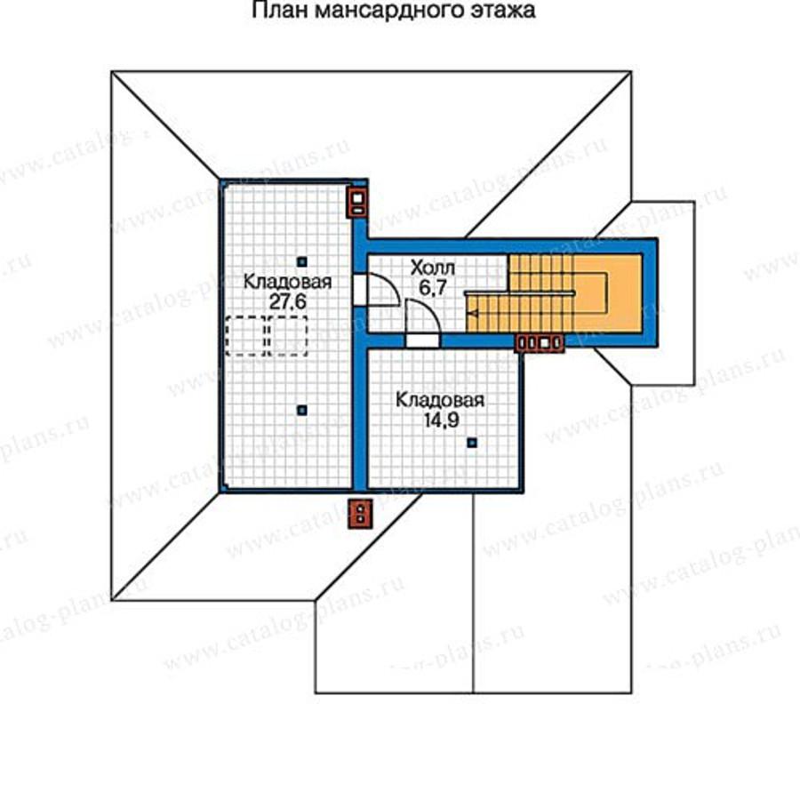 3этаж. План проекта №57-33AK