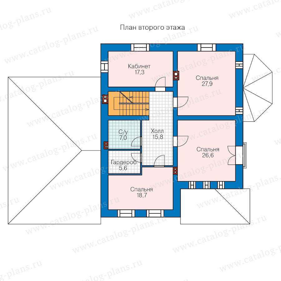 2этаж. План проекта №57-33BK