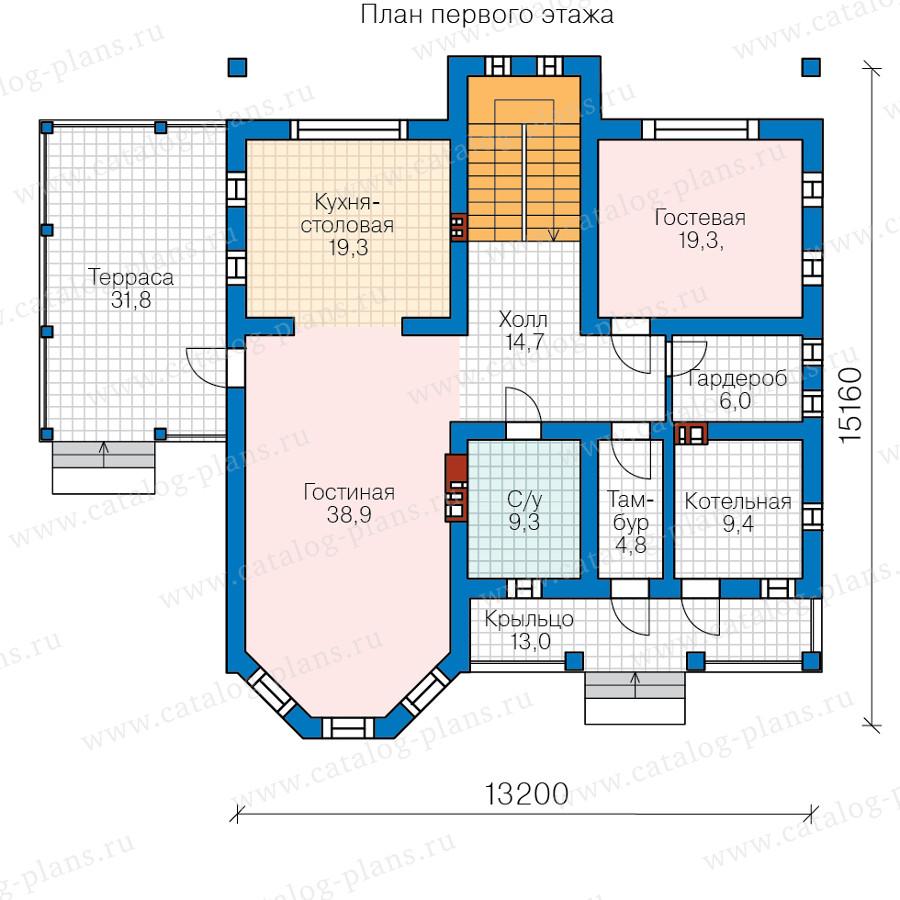 1этаж. План проекта №57-34A