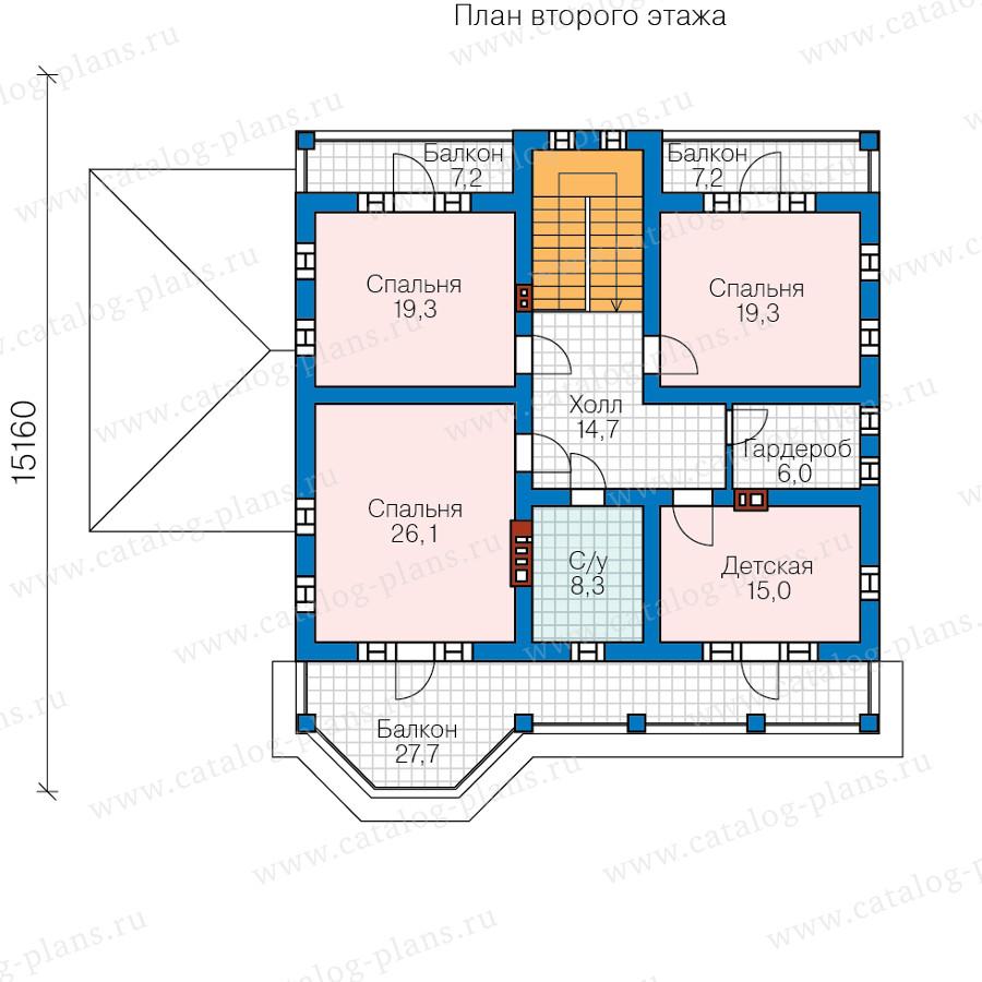 2этаж. План проекта №57-34A