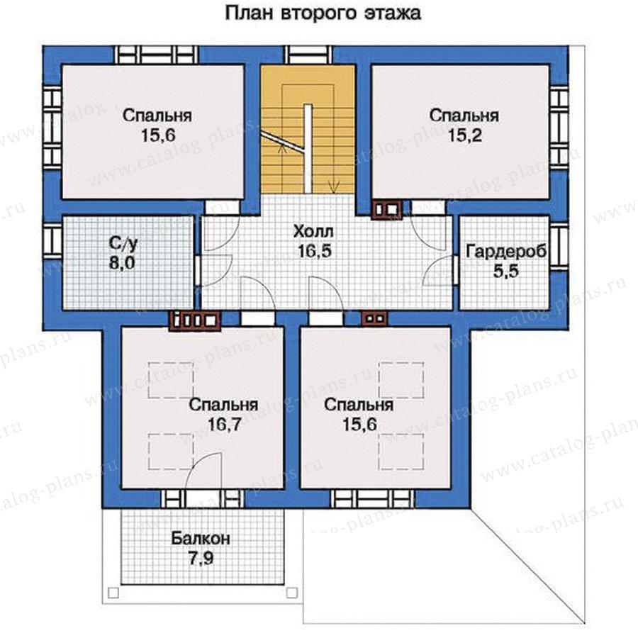 2этаж. План проекта №57-36