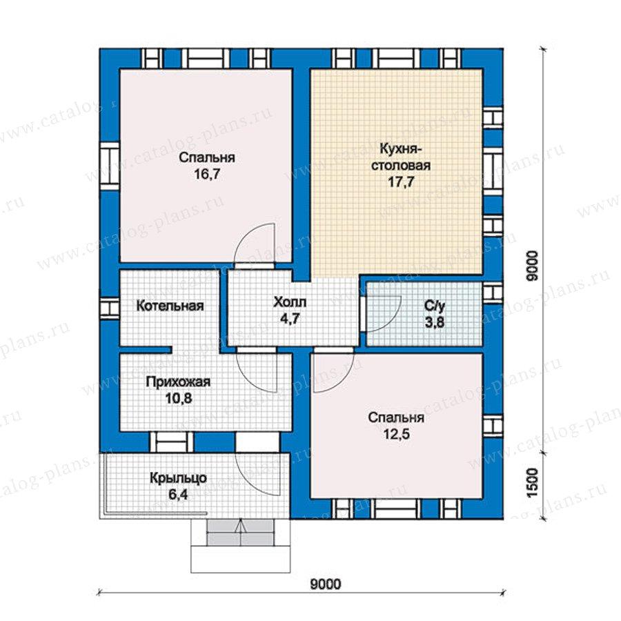 1этаж. План проекта №57-37