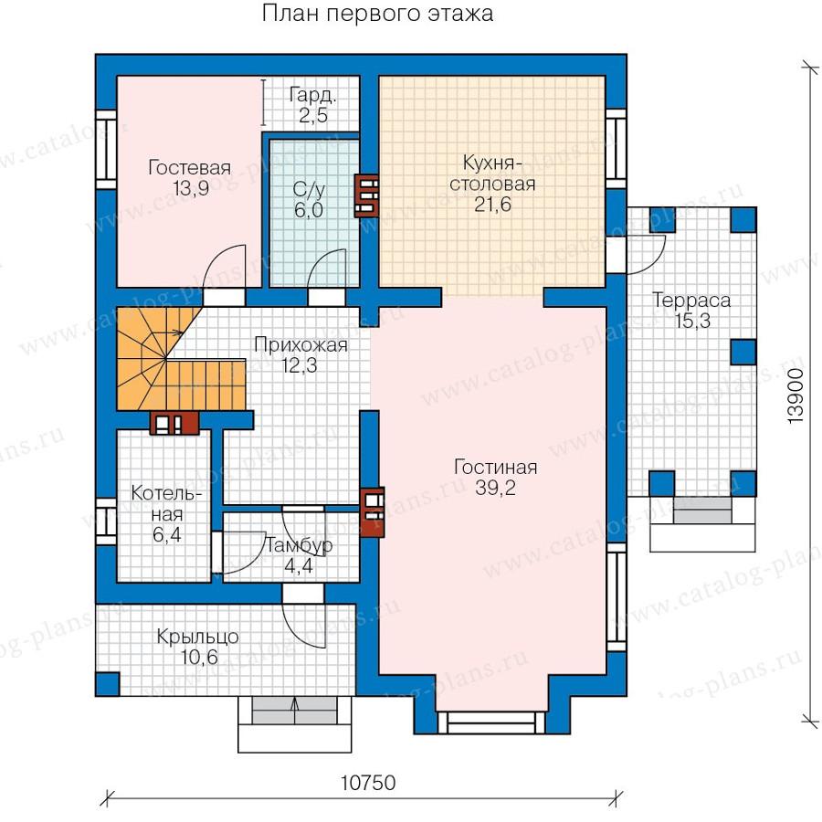 1этаж. План проекта №57-39B