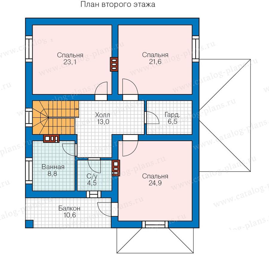2этаж. План проекта №57-39B