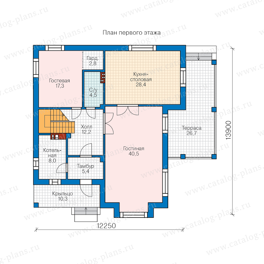 1этаж. План проекта №57-39D
