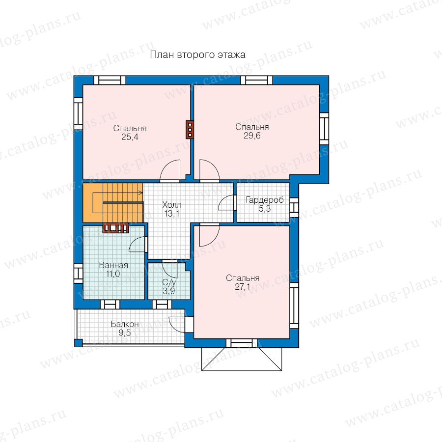 2этаж. План проекта №57-39D
