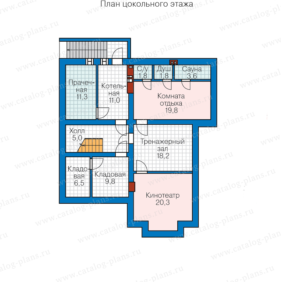 1этаж. План проекта №57-39HL
