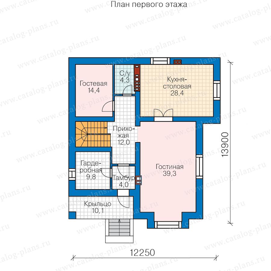 2этаж. План проекта №57-39HL