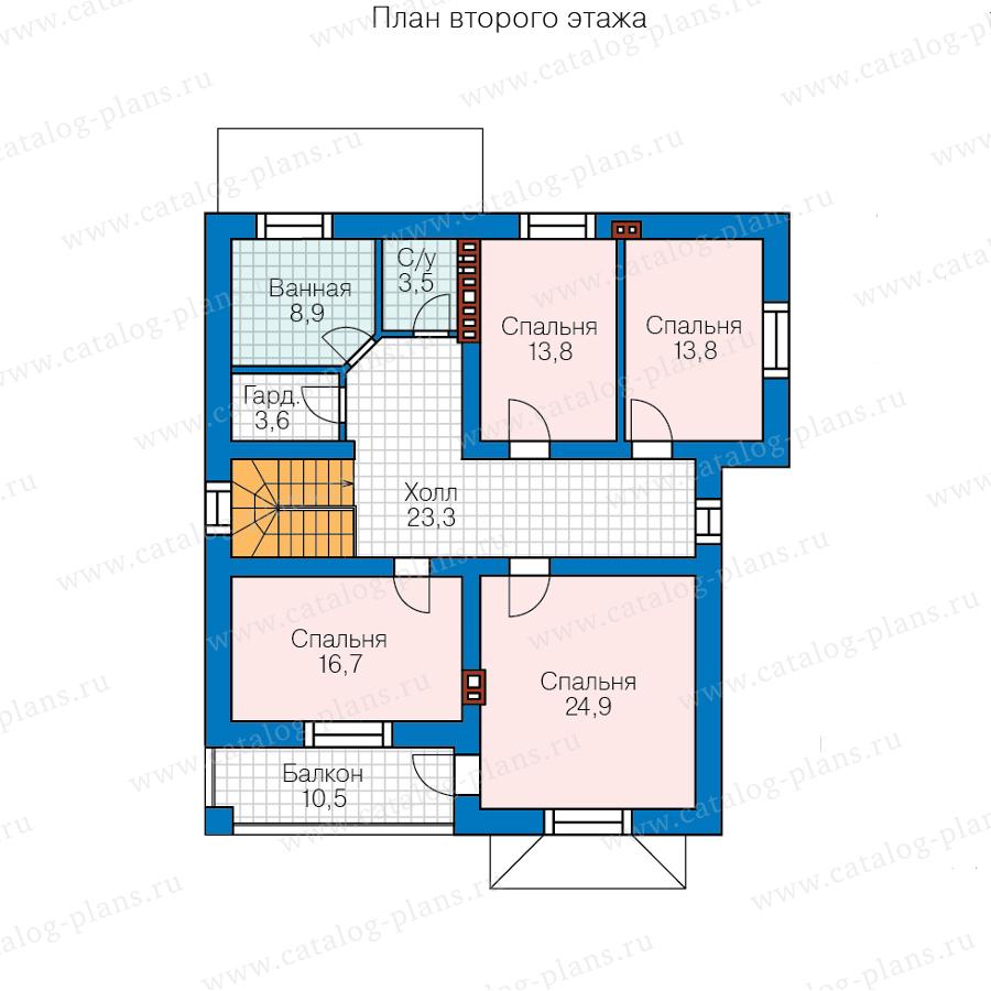 3этаж. План проекта №57-39HL