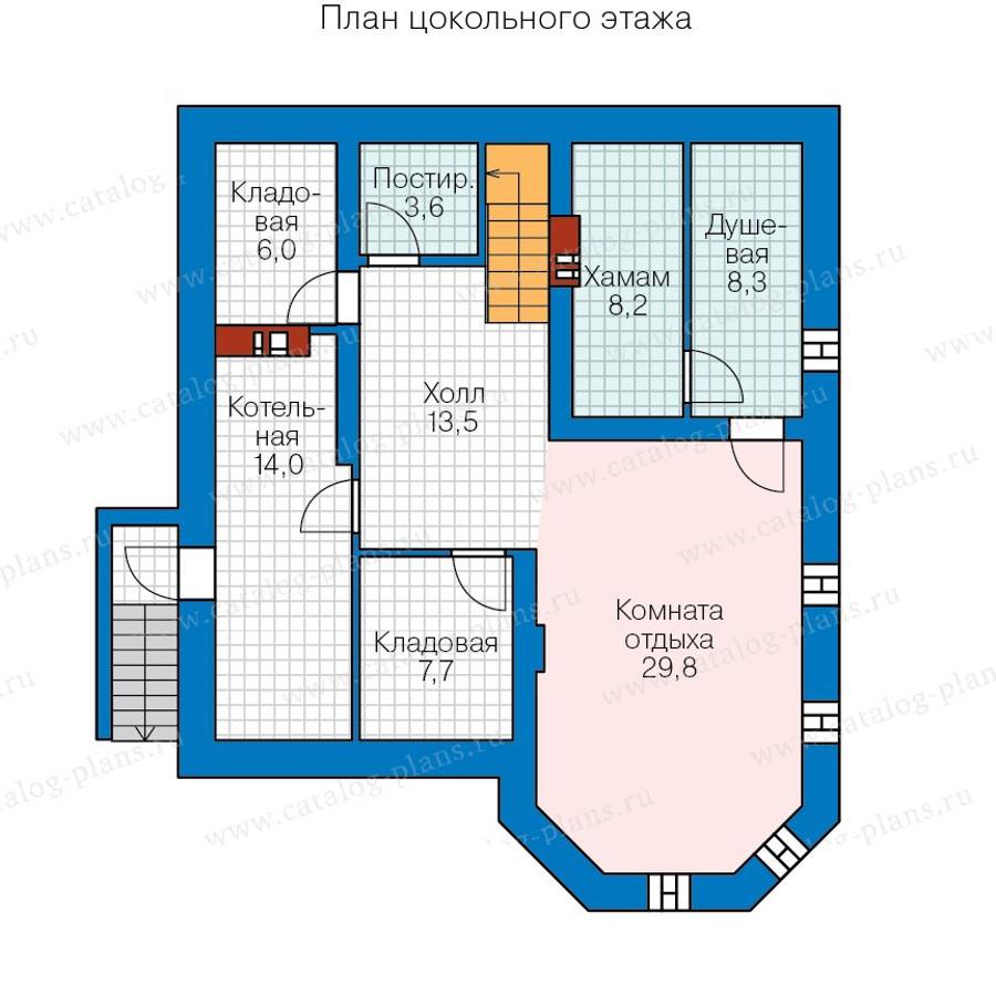 1этаж. План проекта №57-43A