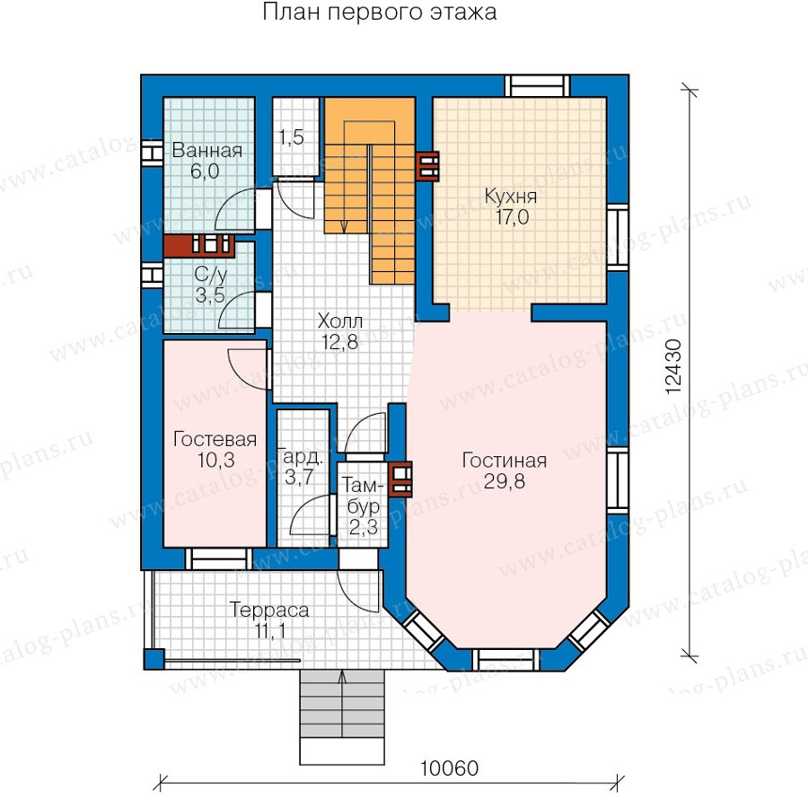 2этаж. План проекта №57-43A