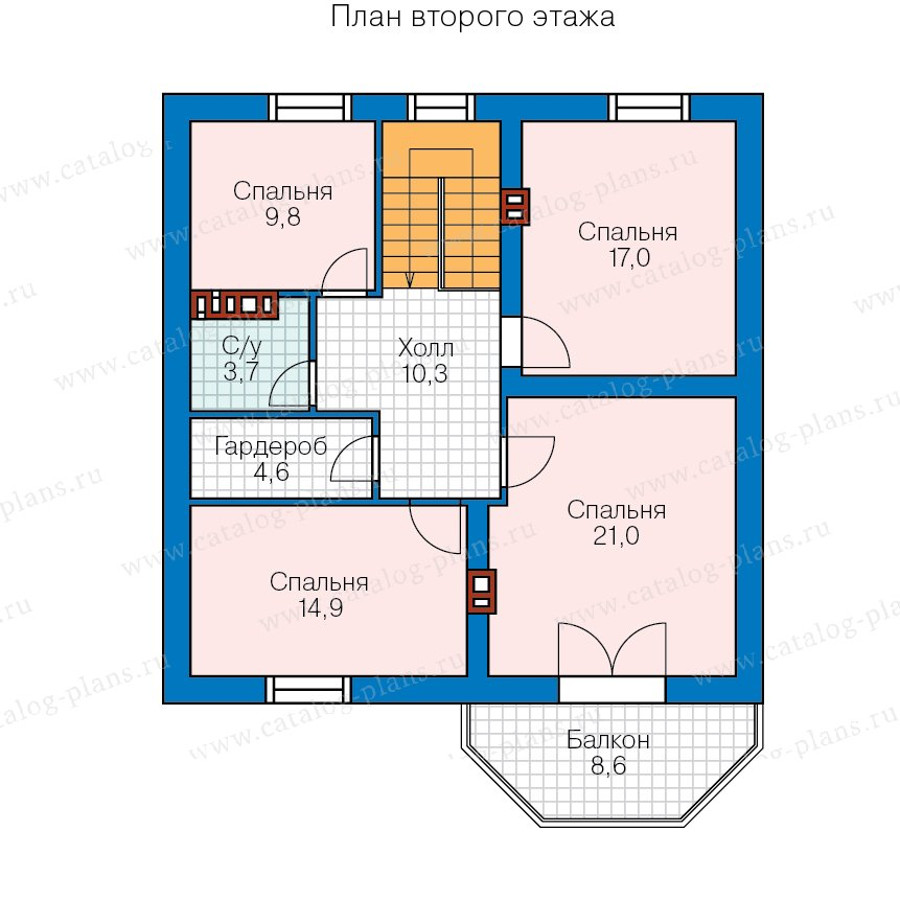 3этаж. План проекта №57-43A