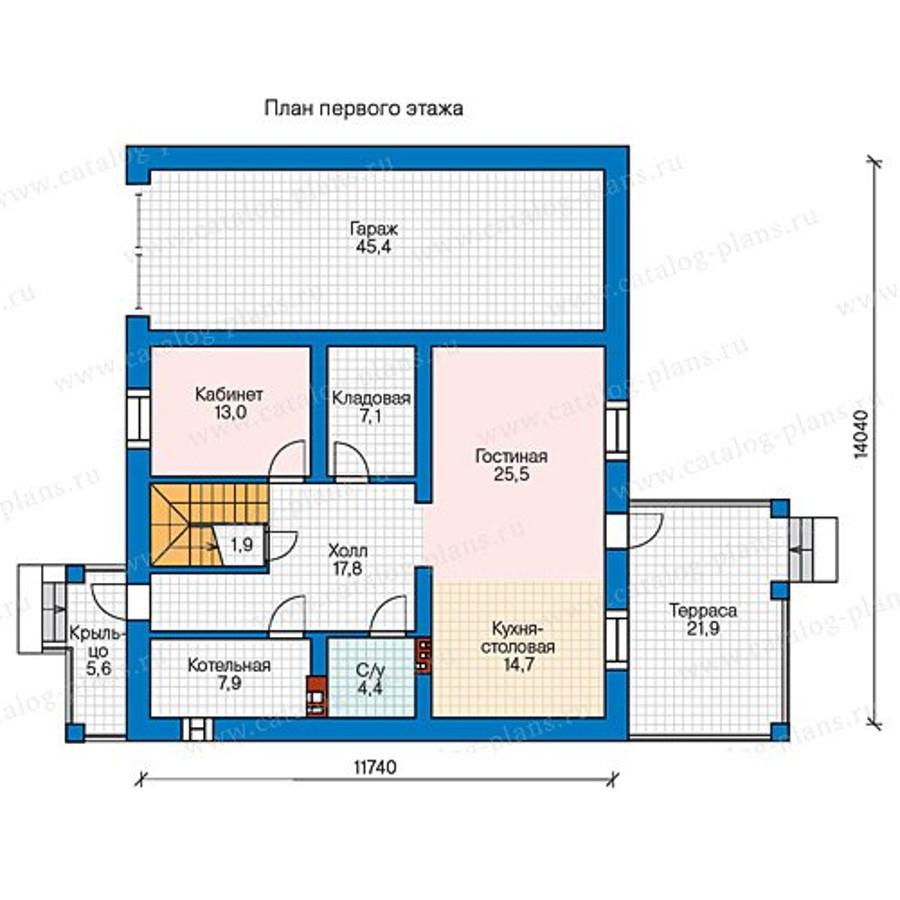 1этаж. План проекта №57-47A