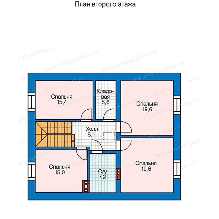 2этаж. План проекта №57-47A