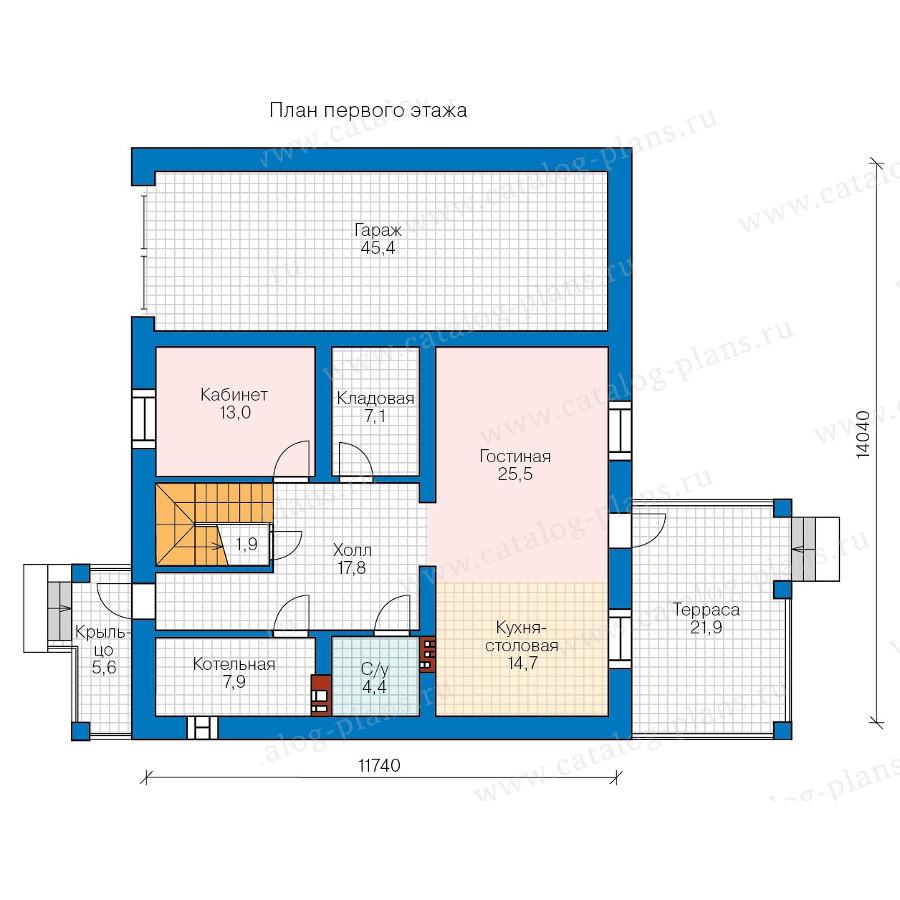 1этаж. План проекта №57-47B