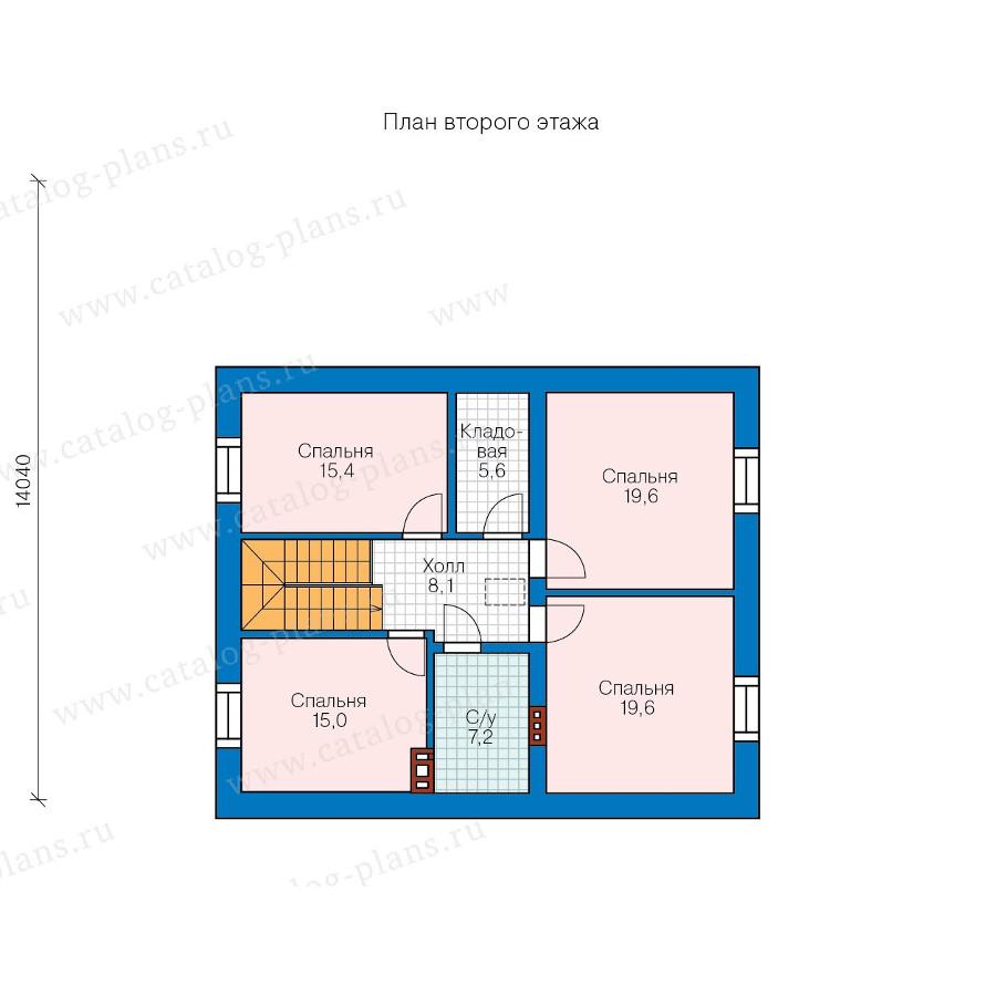 2этаж. План проекта №57-47B